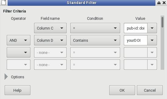 DOI filter
